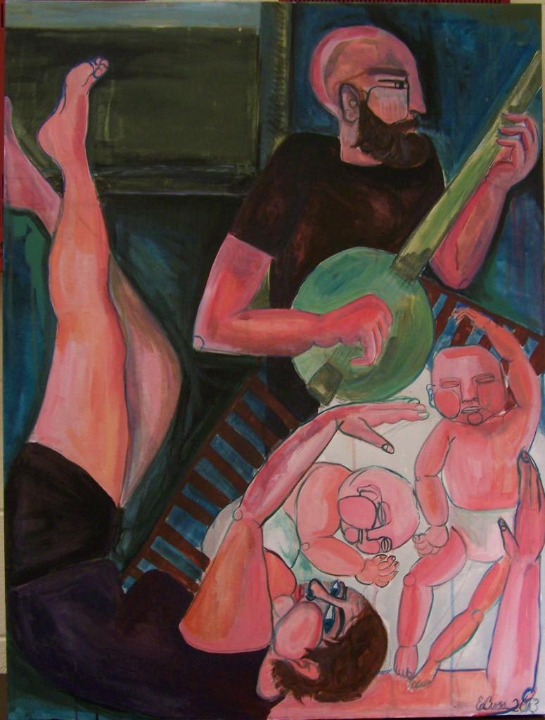 """Lullaby, acrylic on canvas, 30""""x40"""", 2013"""